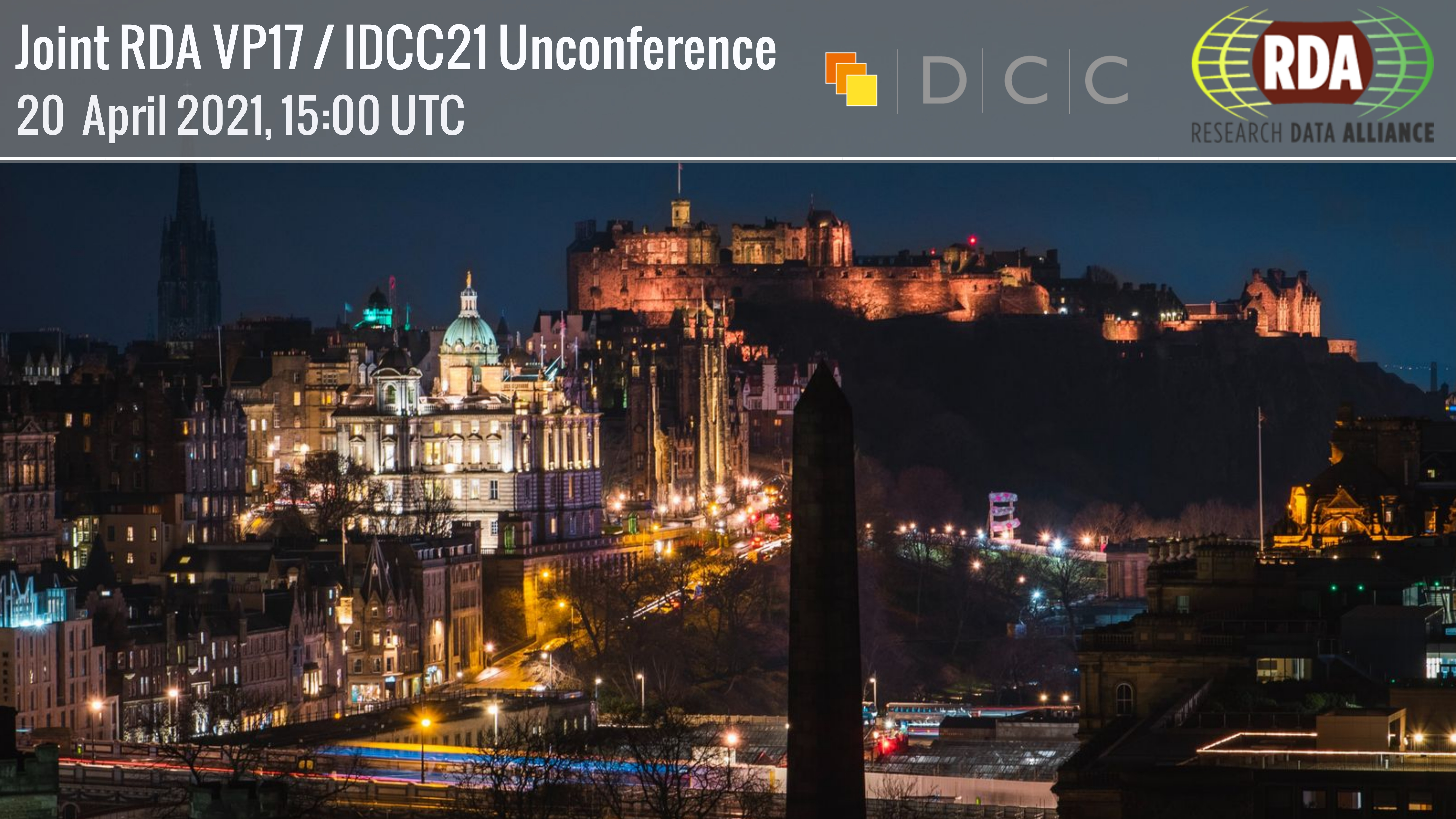 Joint RDA VP17 | IDCC21 Unconference