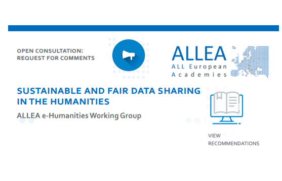 Open consultation on FAIR data in the humanities until 15th July 2019