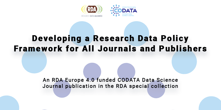 Developing a Research Data Policy Framework for All Journals and Publishers
