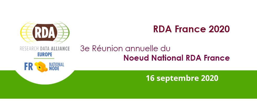 Annual meeting of the RDA in France National Node