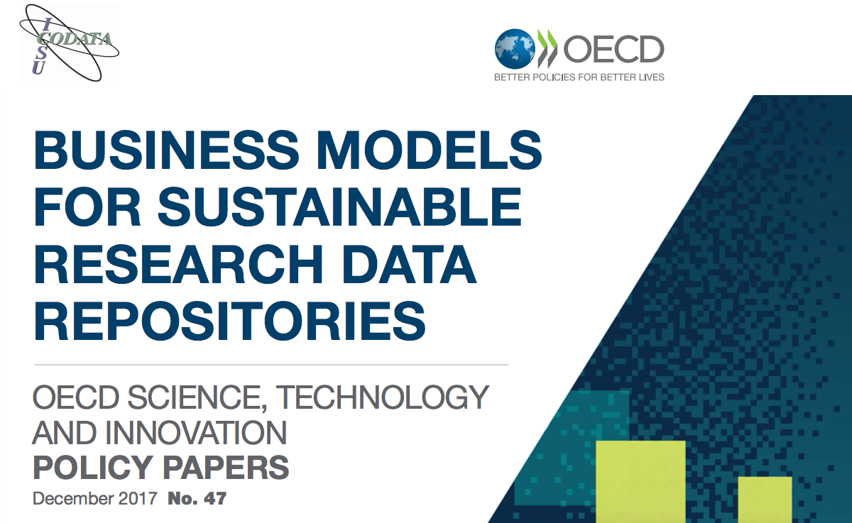 OECD & CODATA Policy Paper on Business models for sustainable research data repositories