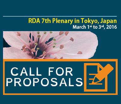 RDA 7th Plenary CALL for SESSION proposals is OPEN! Submit your application now!