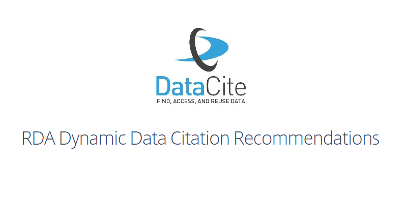 RDA Dynamic Data Citation Recommendations - a DataCite Webinar,  July 12, 2016 04:30 PM CEST