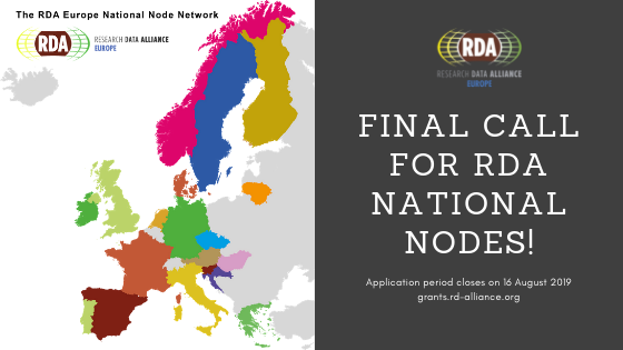 Final call for European Organisations to become RDA National Nodes