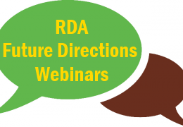 Join the Future Directions Webinars - Contribute to the RDA Future Directions planning process!