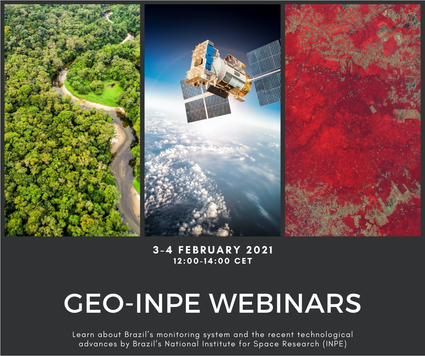 Join GEO-INPE Webinars on Brazil's forest monitoring system