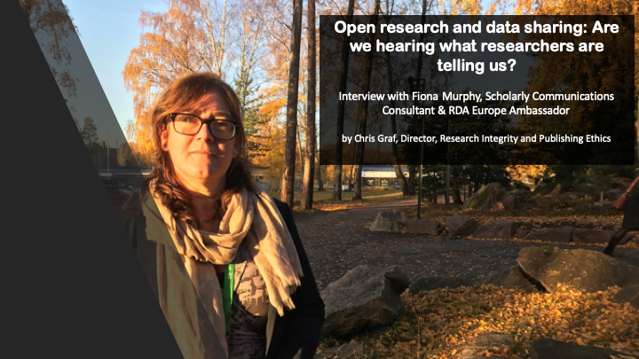 Interview: Open research and data sharing: Are we hearing what researchers are telling us?