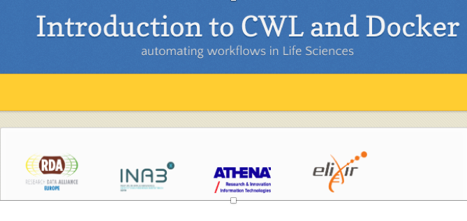 Introduction to CWL and Docker: automating workflows in Life Sciences