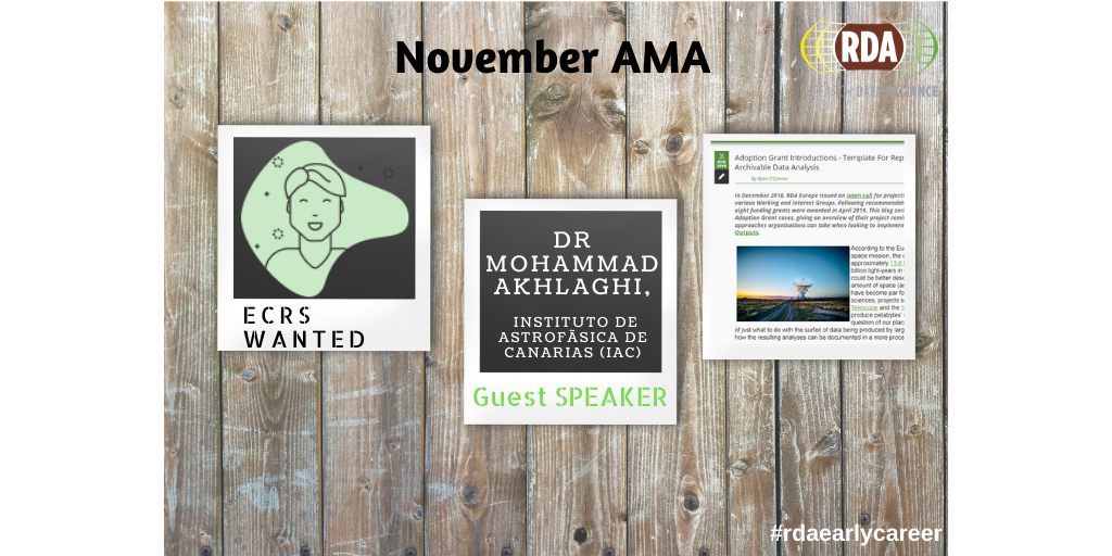 """November AMA call: Understanding the """"reproducibility crisis"""" and funding opportunities for ECRs"""