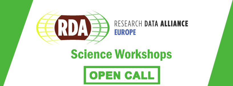 Call For The RDA Europe Science Workshop 2018