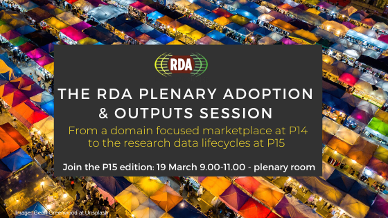 The RDA Plenary Adoption and Outputs session