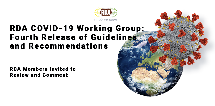 15 May 2020, Fourth release of RDA COVID-19 Guidelines and Recommendations