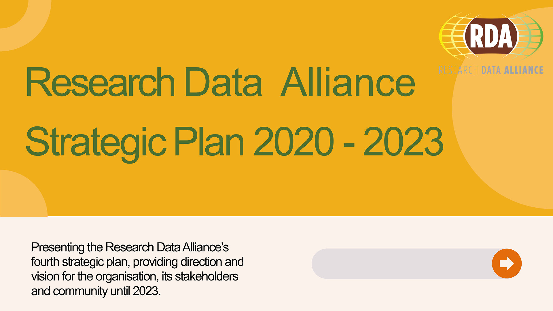 RDA Strategic Plan 2020 - 2023 Open for community feedback