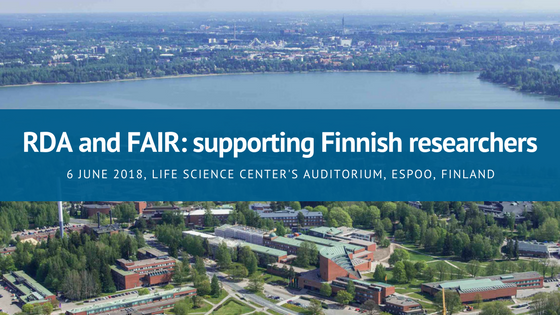 RDA and FAIR: supporting Finnish researchers