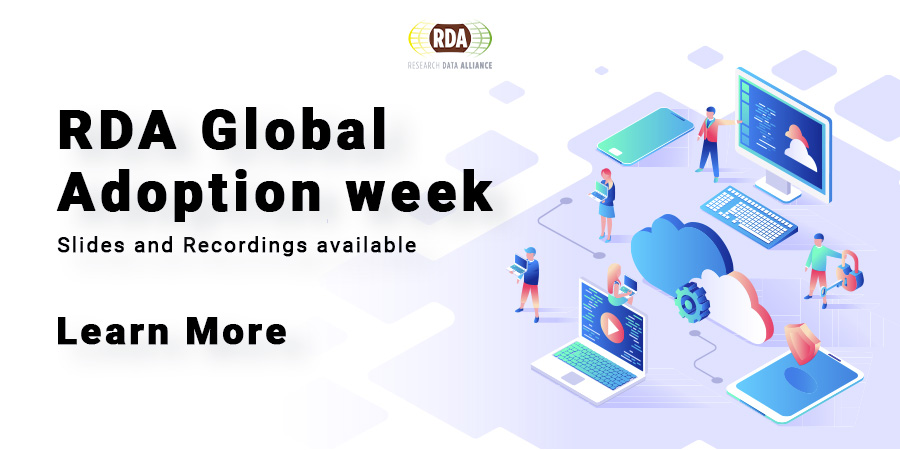 RDA Global Adoption week: 15-19 June 2020