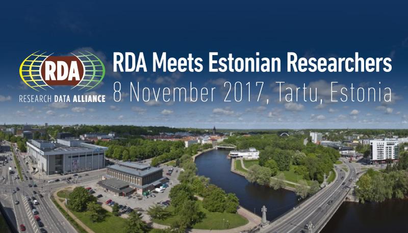 RDA Meets Estonian Researchers, 8 November 2017, Tartu, Estonia