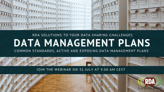 RDA Output Adoption Webinar Series: Data Management Plans