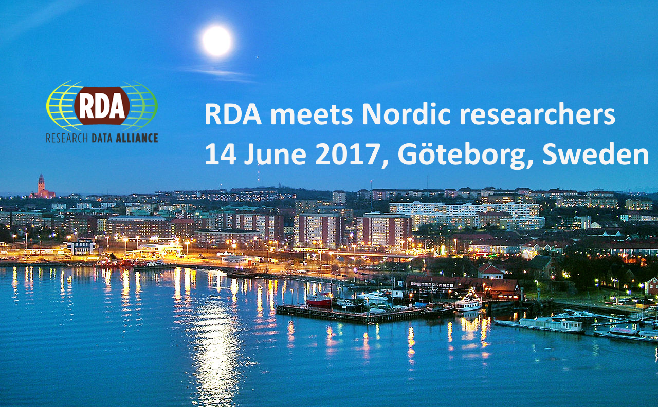 RDA meets Nordic researchers, 14 June 2017, Göteborg, Sweden