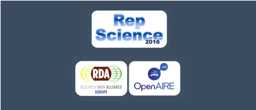Reproducible Open Science - an RDA/OpenAIRE Workshop, 9th of September 2016, Hannover, Germany
