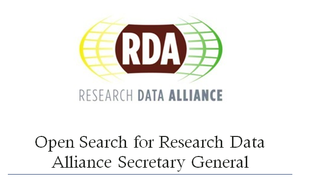 Open Search for Research Data Alliance Secretary General