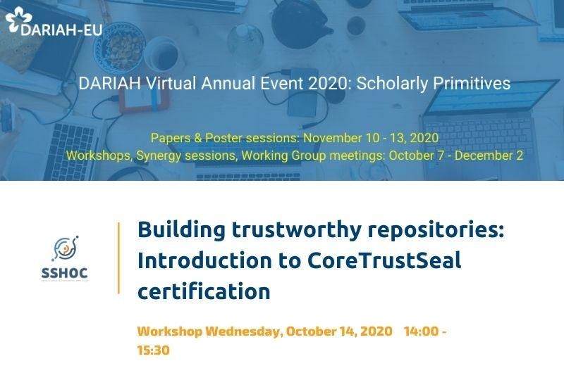 Building trustworthy repositories: Introduction to CoreTrustSeal certification
