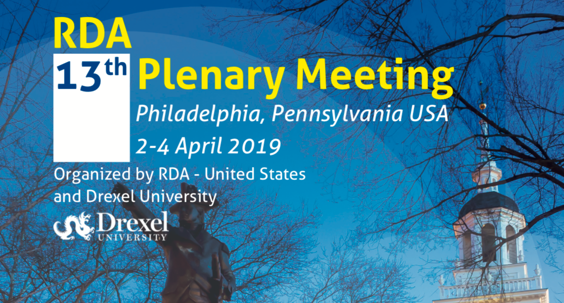 RDA's 13th Plenary Meeting, Philadelphia, US