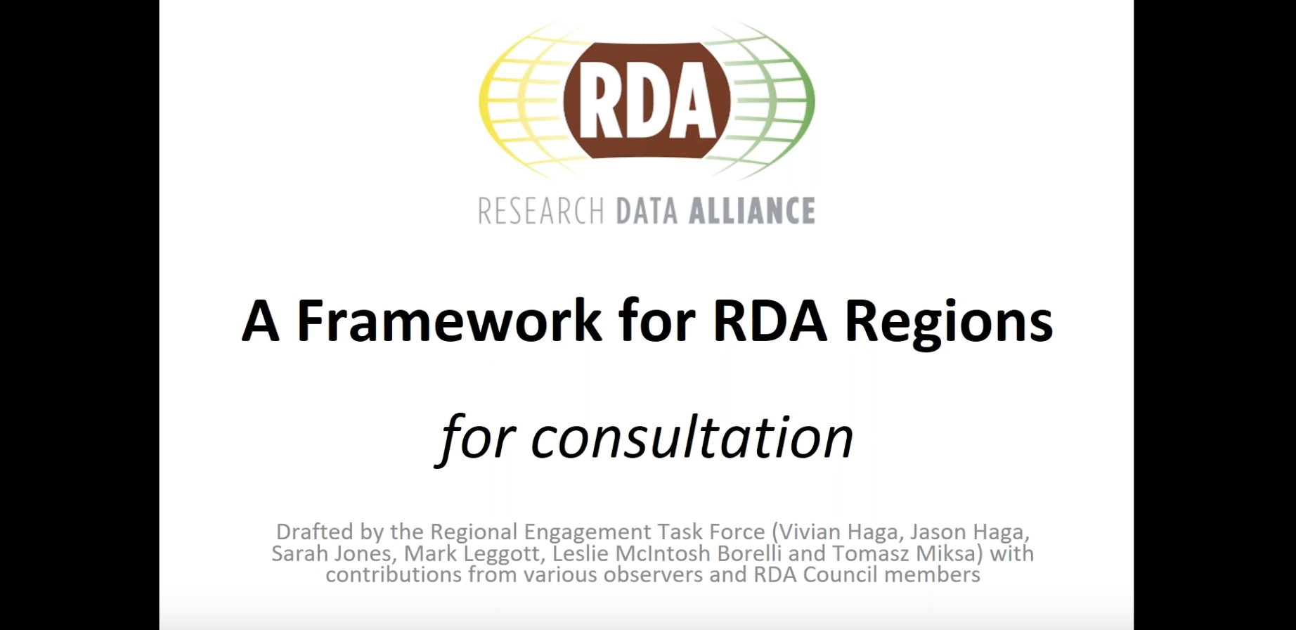 RDA Regional Engagement 5 December Webinars - Slides & recordings Available