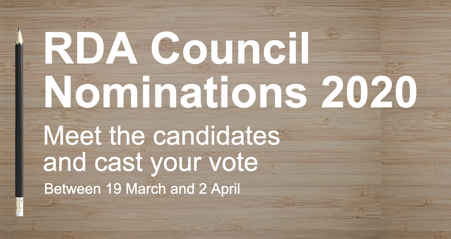 RDA Council member elections 2020: meet the candidates and cast your vote