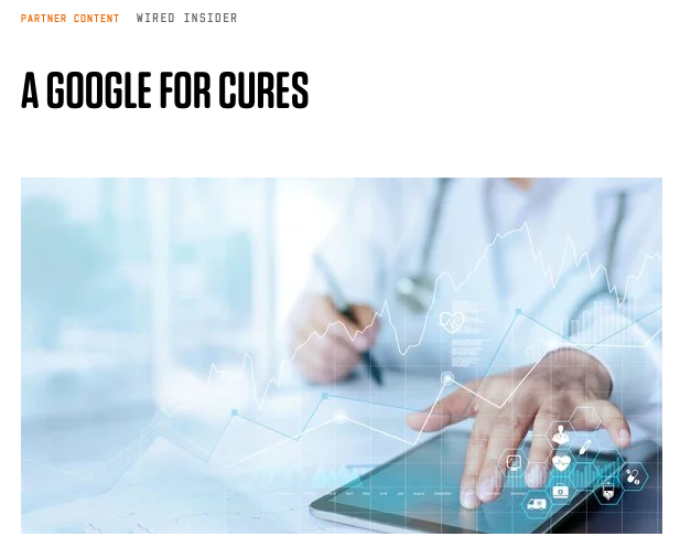 A Google for Cures. RDA mentioned in WIRED Transformation in the Digital Age series