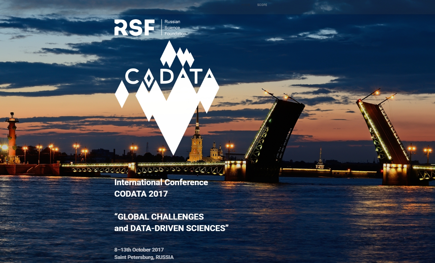 "International CODATA 2017 Conference, ""Global Challenges and Data-Driven Science"""