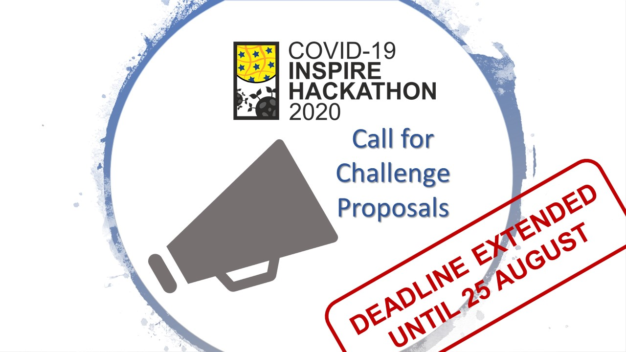 COVID-19 INSPIRE Hackathon 2020 - Call for challenge proposals