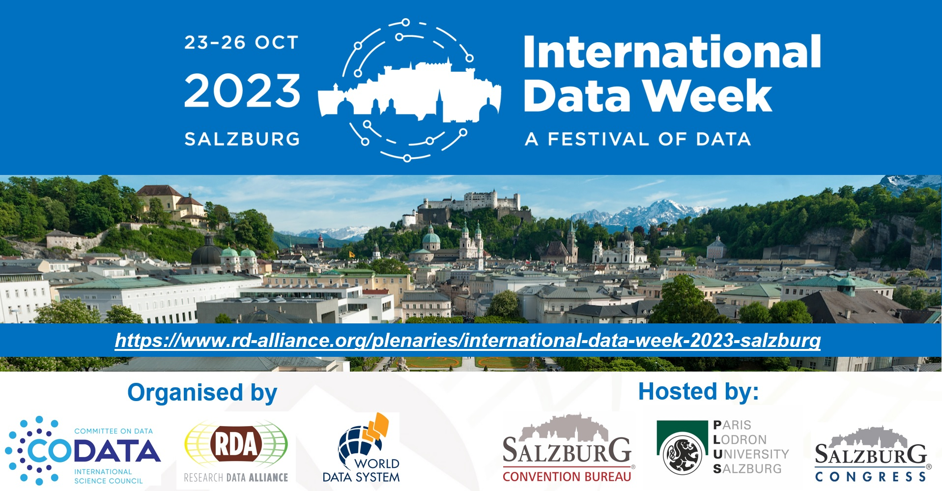 International Data Week 2023,  Salzburg