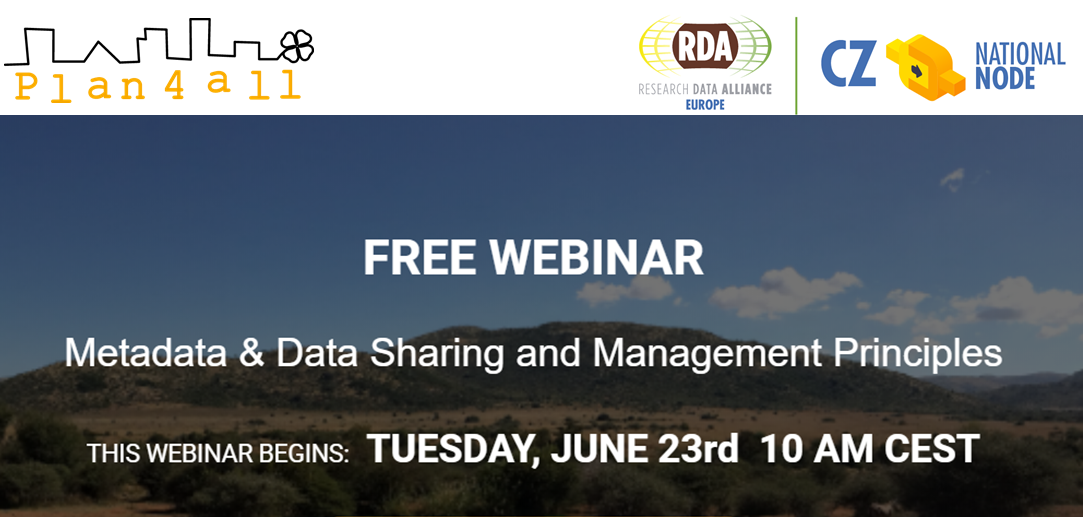 Invitation to the Webinar on Metadata & Data Sharing and Management Principles