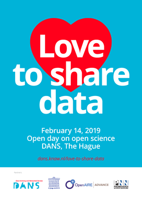 """Love to share data"": February 14: open day on open science"