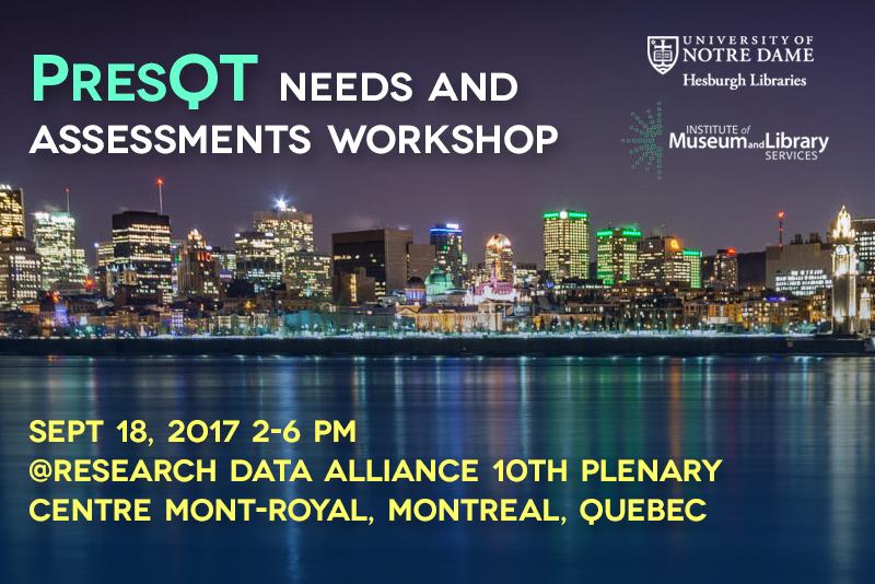 Preservation Quality Tool (PresQT) Workshop II - RDA 10th Plenary Collocated event