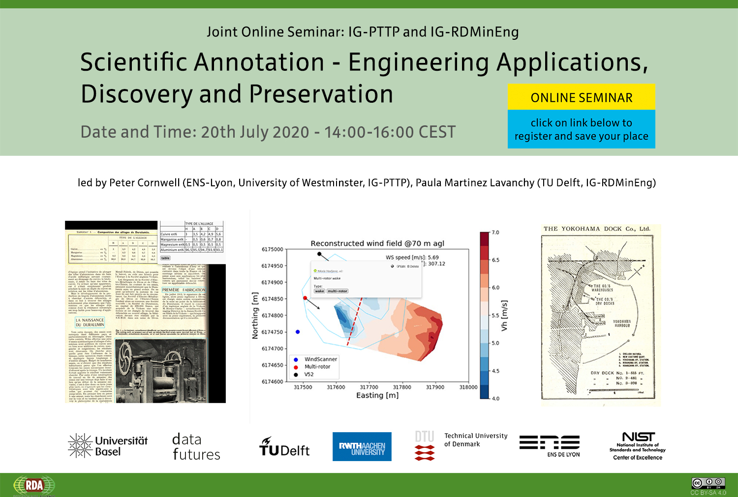 Joint online seminar IG-PTTP & IG-RDMinEng: Scientific Annotation - Engineering Applications, Discovery and Preservation