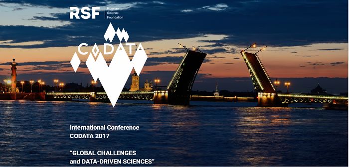 CODATA: Global Challenges and Data-Driven Science, Saint Petersburg, 8 - 13 October 2017