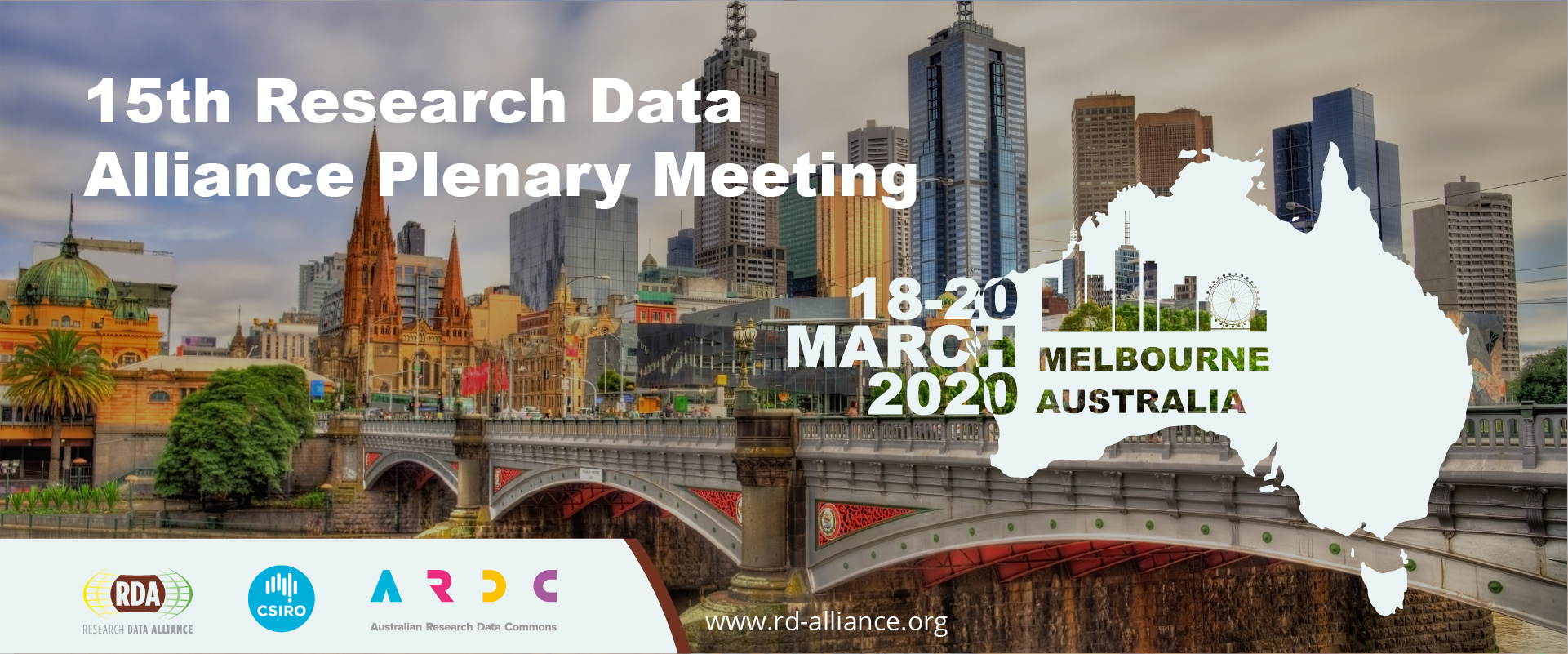 RDA 15th Plenary Meeting, 18-20 March 2020, Melbourne, VIC, Australia