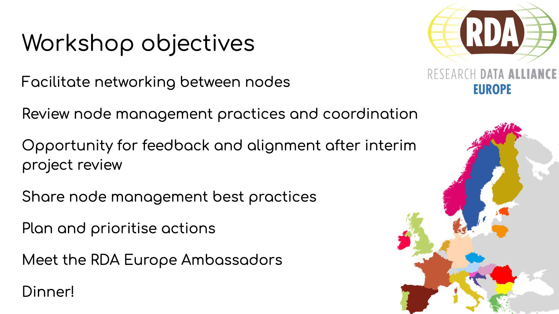 National Node Workshop presentation slide